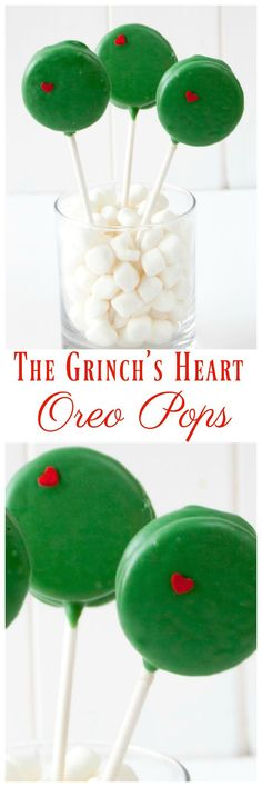 How to make The Grinch Oreo Pops. Step by step directions on how to make oreo pops from the Grinch Who Stole Christmas Movie. How to make The Grinch Oreo Pops. Step by step directions on how to make oreo pops from the Grinch Who Stole Christmas Movie. Grinch Party, Grinch Christmas Party, Grinch Who Stole Christmas, Christmas Deserts, Christmas Goodies, Christmas Candy, Christmas Holidays, Christmas Recipes, Christmas Brunch