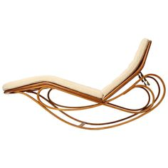 Rocking Chaise Longue by Edward Wormley | From a unique collection of antique and modern chaises longues at https://www.1stdibs.com/furniture/seating/chaises-longues/