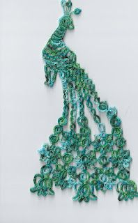 not that i would tat a peacock... but its beautiful :: Beautiful projects from Ginny's Tatting
