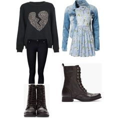 Outfits+with+Combat+Boots | fashion look from February 2013 featuring French Connection dresses ...
