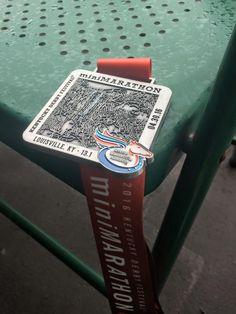 Kentucky Derby Mini Marathon in Louisville, KY 2016 medal - 2016 bling photos - half marathon medal photos by Fifty States Half Marathon Club members www.50stateshalfmarathonclub.com