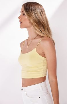 e3f0c5c2ca4f5 PS Basics by Pacsun Easy Cropped Cami Tank Top