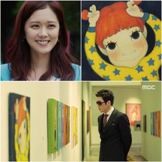 """""""Fated to Love You"""" (MBS) Gae Ddong """"snail"""" by character Ellie Kim (Kim Mi Young) played by Jang Nara. Artwork originated by artist Yook Sim Won. LOVE IT...WANT IT ALL!!! 크기변환_운널사_장나라육심원.jpg (620×620)"""