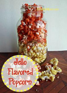 jello flavored popcorn, #snack, #thriftysnack, #jello, #popcorn, #flavoredpopcorn, #jellopopcorn, #thriftysnackideas