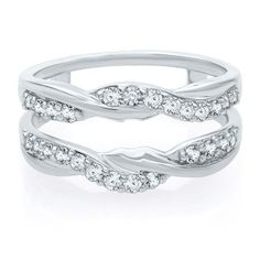 1/2 ct. tw. Diamond Ring Twisted Enhancer in 14K Gold  available at #HelzbergDiamonds