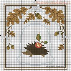 Схема для вышивки крестом: Наперсток
