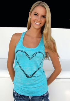 Hook heart tank top. perfect for my fishin days n the summer:)