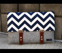 15 macbook  navy blue case sleeve with zippered by AlexMLynch, $80.00