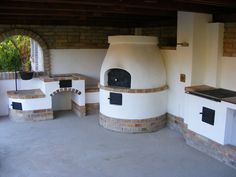 :-D Outdoor Rooms, Outdoor Living, Outdoor Kitchens, Wood Oven, Architectural House Plans, Pizza Oven Outdoor, Barbecue Area, Outdoor Kitchen Design, Backyard Bbq