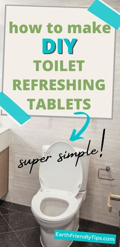 When your toilet needs to freshen up a little bit, you don't have to turn to toxic chemicals. Instead, discover how easy it is to make these homemade toilet refreshing tablets. These DIY toilet refreshing tablets require only a few simple ingredients for a natural clean that will leave your toilet smelling great in between cleanings. #ecofriendly #natural #cleaning #homemade #DIY Homemade Cleaning Products, Natural Cleaning Products, Kawaii Diy, Eco Friendly House, How To Make Homemade, Toilet, Decor, Natural Cleaners, Decoration