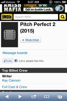 Pitch Perfect 2!! (: