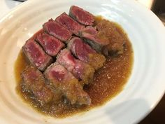 宮のタレ(元ステーキ宮社員のレシピ) by yosukehops Gourmet Recipes, Beef Recipes, Cooking Recipes, Healthy Recipes, Tasty Dishes, Food Dishes, Asian Cooking, Daily Meals, No Cook Meals