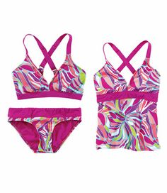 757c6b166c Better Swim - Electric Peach Print - Better because it adjusts for a custom  fit.