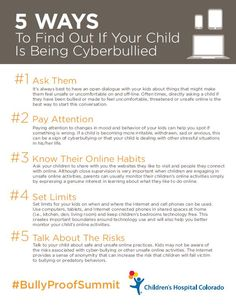 Five ways to discover if your child is being cyberbullied, from experts at Children's Hospital Colorado.