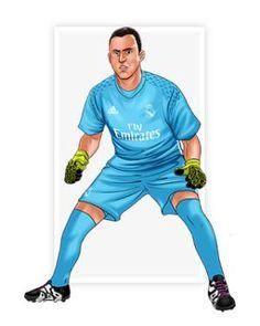 Keylor Navas Real Madrid Football Club, Cristiano Ronaldo Cr7, Soccer Players, Holi, Kawaii, Wallpaper, Drawings, Anime, Maps
