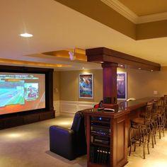 Theater Room Design Idea. #Constrir es el #ARTE de CReAR Infraestructura... #CReOConstrucciones.
