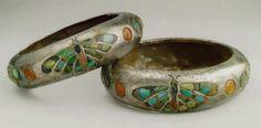 Museo del Cairo. Brazaletes de plata de la reina Heteferes.