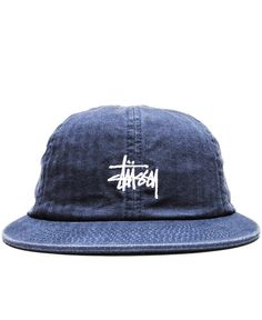 STUSSY - SMOOTH HERRINGBONE STRAPBACK CAP (NAVY)