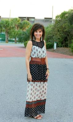 Target style maxi dress for fall.