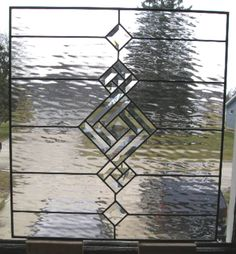 If I ever get around to replacing the glass in my front door and transom. Glass Front Door, Front Doors, Stained Glass Door, Panel Doors, Glass Design, Glass Panels, Window Treatments, Clear Glass, House Design