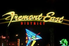 The original Strip, where Vegas really began! >> Fremont East District in Downtown Las Vegas is a pedestrian-friendly streetscape accented with a 50s vintage Vegas feel and lined with restaurants and entertainment venues. Photo credit: Las Vegas News Bureau