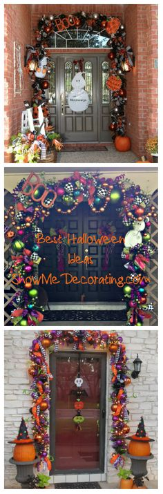 Halloween Decorating-BEST Halloween Ideas by ammieiscool Spooky Halloween, Halloween Veranda, Halloween Outside, Halloween Porch, Outdoor Halloween, Holidays Halloween, Halloween Crafts, Happy Halloween, Halloween Decorations