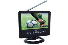 """TV PORTÁTIL TVY9      Pantalla  LCD de 7"""" (17.8 cm)     Antena telescópica     Sintonizador de TV     Entrada para audífonos     Entrada para antena externa     Sintoniza radio FM     Entrada USB     Entrada SD"""