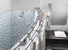 Moen Double Curved Shower Curtain Bath Tub Rod Chrome New