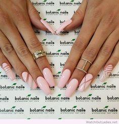 Botanic nails light pink long nails