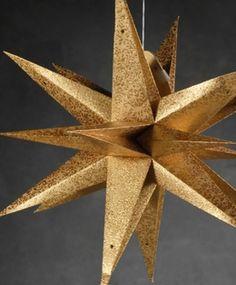 Star Lantern Gold 23in