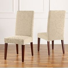 Sure Fit® Stretch Pique Short Dining Room Chair Slipcover in ...
