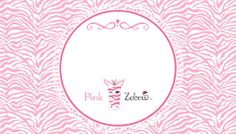 Free Pink Zebra Business Card Templates by Slap Dash Mom