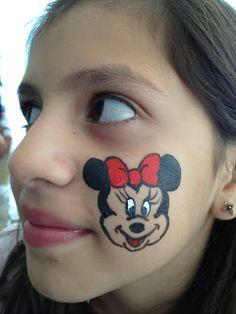 Minnie mouse cheek art