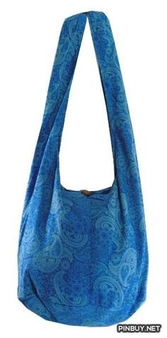 Blue Cotton Printed Standing Coral Crossbody Shoulder Hippie Boho Hobo Messenger Bag PC26 - Cross Body - Bags and Purses