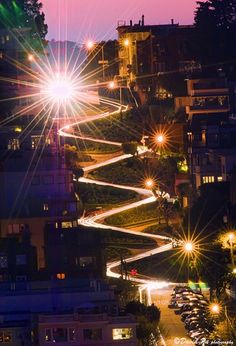 Lombard Street of San Francisco, CA