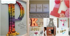 Decorating with Letters and Words: 37 Striking Tutorials Show You How to Make Your Own via @vanessacrafting