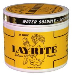 for the wet hair look -- Layrite 4 oz Original Pomade Hawleywoods / Layrite,http://www.amazon.com/dp/B004AMCBQA/ref=cm_sw_r_pi_dp_uTdstb0S7J3FPWES