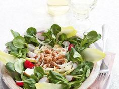 Witloofsalade met garnalen en appeltjes