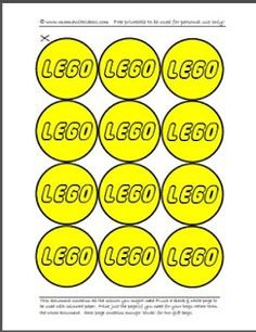 A mama with ideas...: Lego Party Bags Free Printable... (HAS 10 DIFFERENT COLORS INCLUDED IN FREE DOWNLOAD)