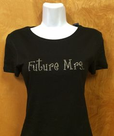 Rhinestone Bling Future Mrs Bride Wedding Shirt S M L XL XXL Custom NWT #Bella #EmbellishedTee