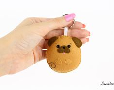 Pug gifts dog lover gift dog keychain pug keyring dog mom gift pugs lover, animal keychain, birthday gift for her mothers day puppy keychain Felt Animal Patterns, Stuffed Animal Patterns, Dog Mom Gifts, Dog Lover Gifts, Fleece Crafts, Felt Crafts, Sewing Crafts, Sewing Projects, Felt Keychain