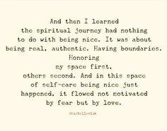 The spiritual journey...