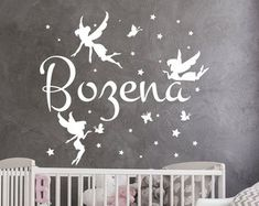 Wall Vinyl Decal, Wall Murals, Quote Stickers, Nursery by BartiWallDecals Name Wall Decals, Vinyl Wall Decals, Wall Murals, Castle, Etsy Seller, Nursery, Quote, Stickers, Creative