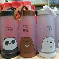 Mode Kawaii, Cute Water Bottles, We Bare Bears Wallpapers, We Bear, Kawaii Room, Cute School Supplies, Bear Wallpaper, Cool Things To Buy, Stationery