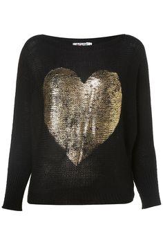 £25 Heart foil jumper