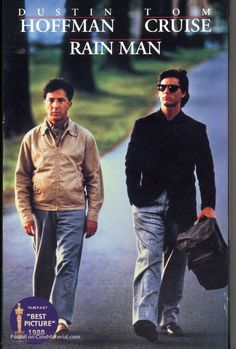 """Rain man - I'm not a big fan of Tom cruise but I don't mind his character in this film. I love Dustin Hoffman and his character Raymond is so sad, although you can't help laughing at some parts of """"Rain man"""" Tom Cruise, See Movie, Movie List, Movie Tv, Man Movies, Movies To Watch, Rain Man, Thriller, Film Mythique"""