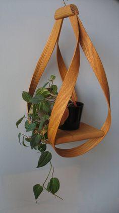 Bentwood Hanging Plant Holder. $50.00, via Etsy.