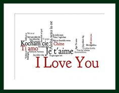 """I Love You in Many Languages (11x14"""")"""