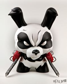 """Custom 8"""" Chainsaw Panda Dunny on Toy Design Served"""