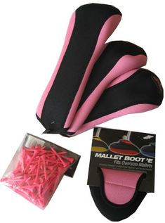 Check out our Pink/Black Stealth Headcovers, Mallet Boot & Bag of Tees! Find the best golf gear and accessories at Lori's Golf Shoppe. Click through now to see this!